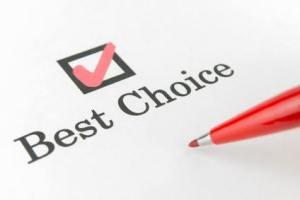 Imagen indicando la mejor elección