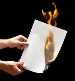 Quemando papel