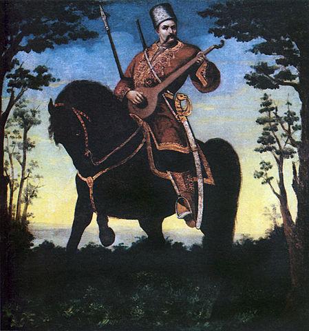 Cosaco-Bandura. Alrededor de 1890