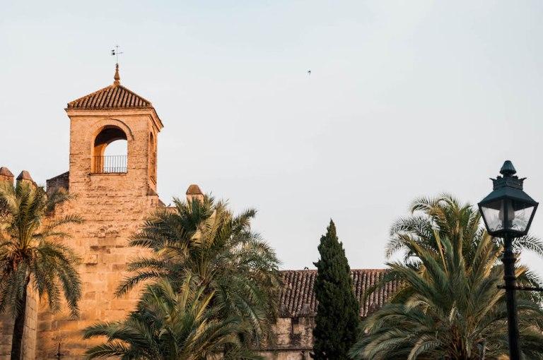Vista general del exterior del Alcázar de los Reyes Católicos en Córdoba