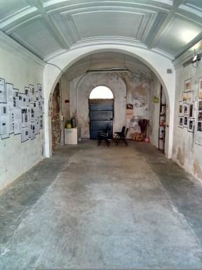 Interior de la antigua capilla, hoy en día lugar de exposiciones.