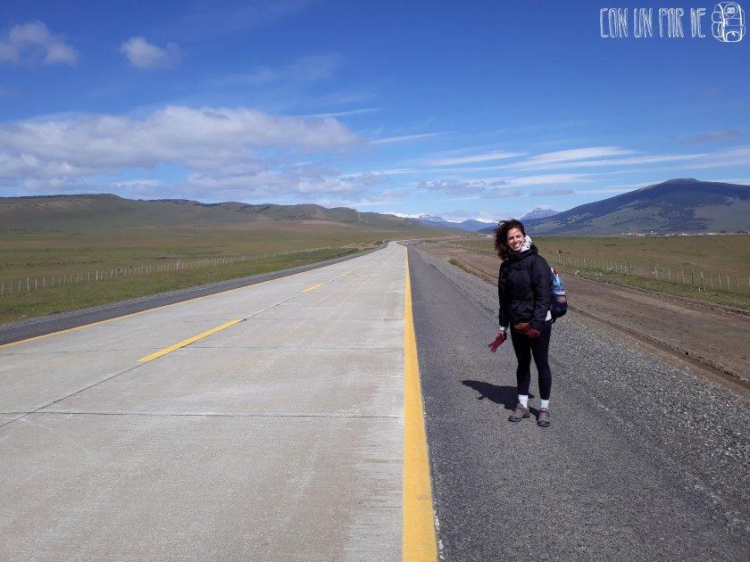 Esperando en la ruta