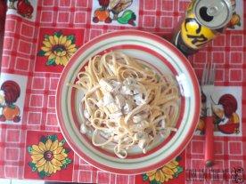 Pasta con champiñones a la pimienta