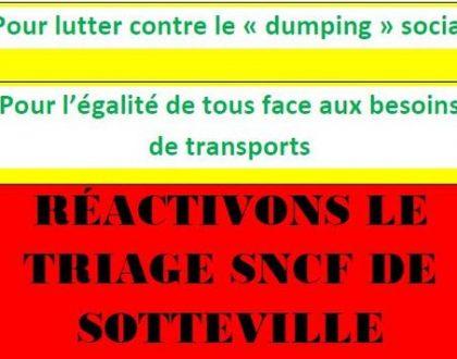 Le 1er juin à 17h, rassemblement pour le service public ferroviaire en gare de Rouen rive droite