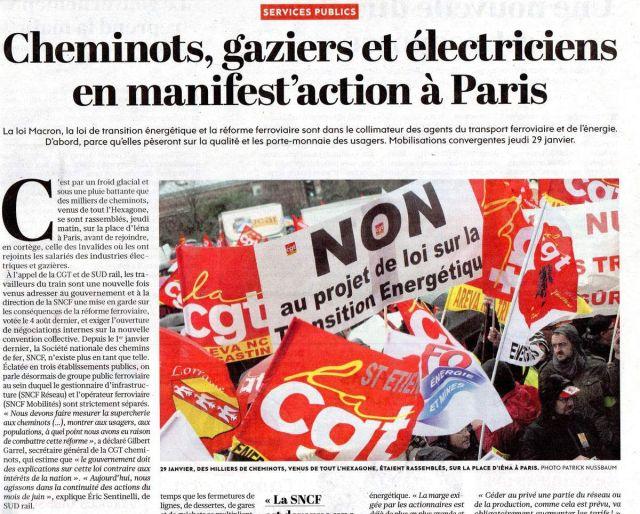 Le 22 juin 2021, importante manifestation à Paris pour les services publics du rail et de l'énergie