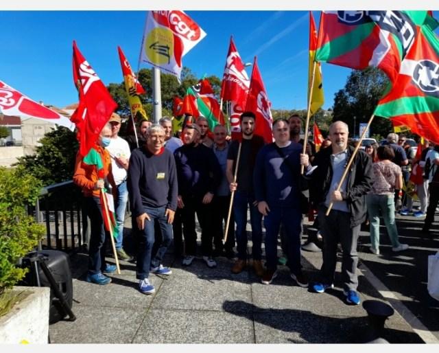 Le 7 octobre 2021, la CNR était présente à Hendaye pour défendre le service public ferroviaire