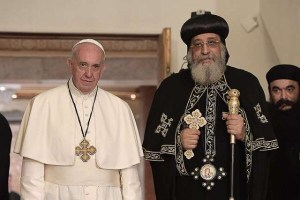 Baptism Pope Francis and Pope Tawadros Convergence Movement