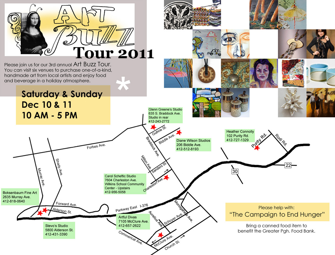 Map of 2011 Art Buzz tour