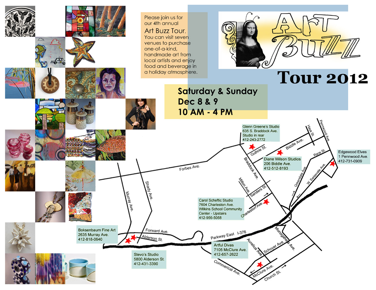 2012 Art Buzz Map