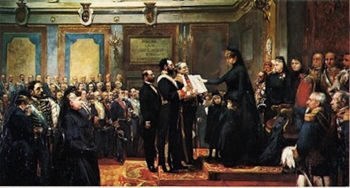 Jura de la Constitución por S.M. la Reina Regente Doña María Cristina, 1897