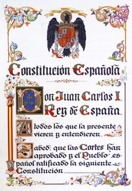 Ejemplar preconstitucional de la Constitución de 1978