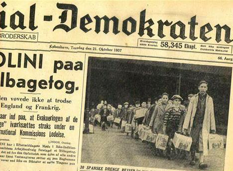 llegada de niños espoañoles a-dinamarca-prensa-danesa-1937