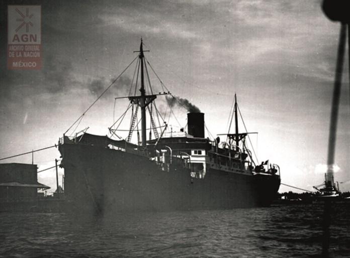 Llegada del Sinaia al puerto de veracruz AGN