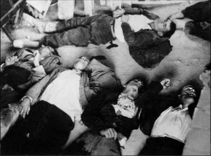 Campesinos víctimas de la intervención de la Guardia Civil en Yeste el 29 de mayo de 1936 (imagen: Alba Foto)