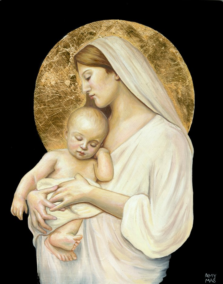 madonna and child, a great example of traditional art