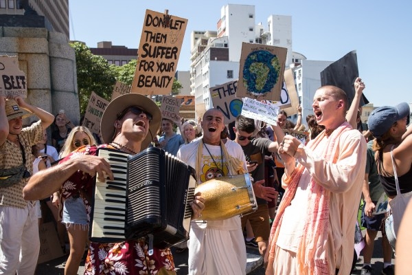 Climate strike protest, an example of neo-paganism