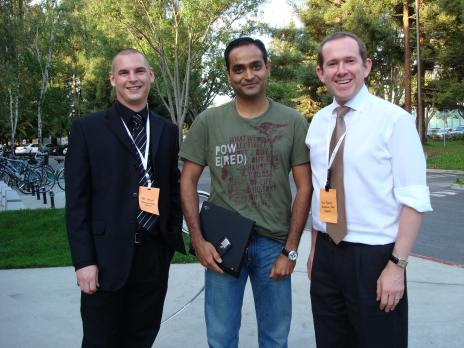 Our founders with Avinash Kaushik at the Googleplex
