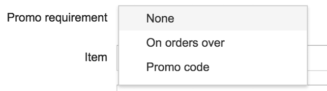 Promotion Requirement in AdWords