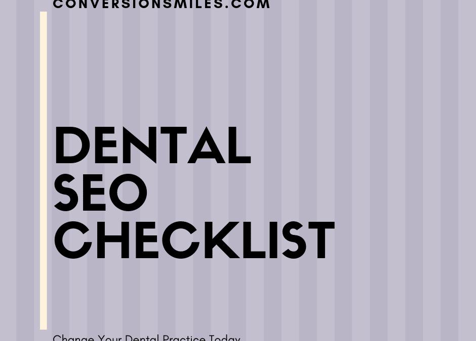Dental SEO Service Checklist