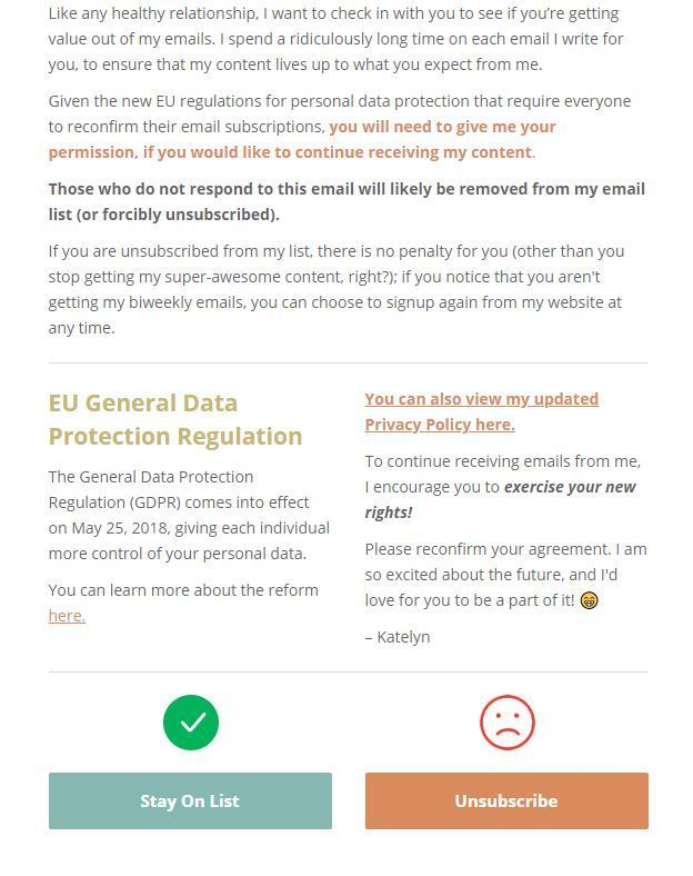 Example GDPR Email