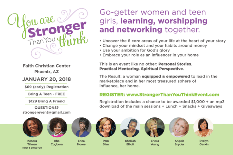 2018 You Are Stronger Than You Think Event