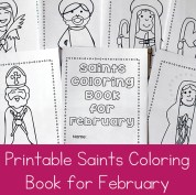 February Saints Coloring Book