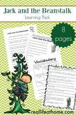 Jack and the Beanstalk Learning Activity Packet
