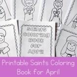 April Saints Coloring Book