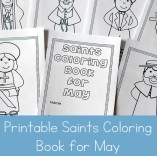 Printable Saints Coloring Book for May