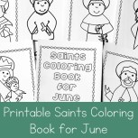 Printable Saints Coloring Book for June