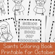 October Saints Coloring Book Printable