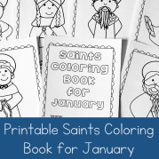 January Saints Coloring Book