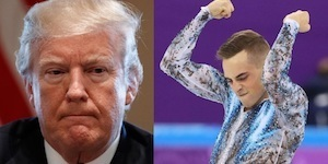 US's first openly gay Olympic champ is asked if he'll visit Trump. His answer is gold