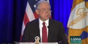 Jeff Sessions blows the racial dogwhistle to end all dogwhistles in front of a room of cops