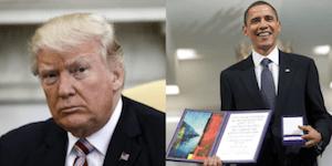 Trump forged nobel