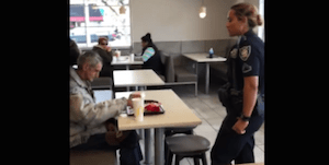 Homeless man in McDonalds