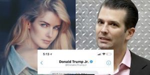 Trump Jr and Model