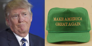 Trumps St Patrick's Hat