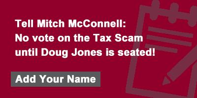 No tax vote without Doug Jones!