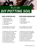 Diy potting soil
