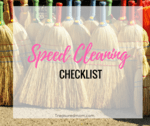 Speed cleaning checklist image