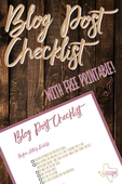 Blog post checklist with free printable pinterest