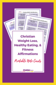 Christian weight loss affirmations 2 pin