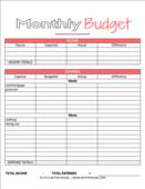 Budget printable 3