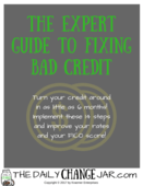 Expert guide to fixing bad credit