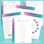 Moon journal instant download   wayward inspiration etsy shop