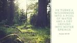 Psalm 107 35 wilderness wallpaper