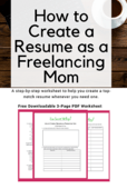 How to create a resume as a freelancing mom%281%29