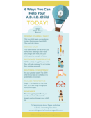 6 ways you can help your adhd child today! infographic mmm