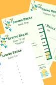 Copy of spring break activities printables